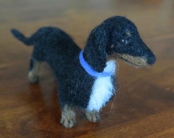 Needle Felted Dog, Dachshund, Custom Pet Portrait