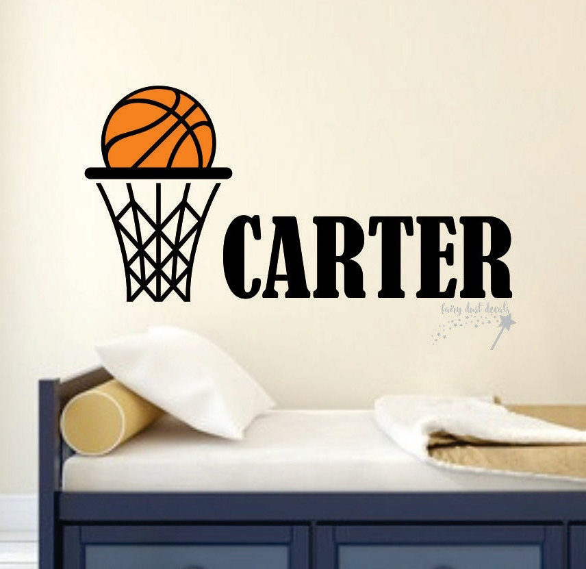 Basketball wall decal basketball sticker march madness for Basketball wall decals