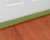 Door Draft Stopper, Room to Room Noise Reducer, Green Striped Floor Snake, Door Draft Guard, AnnabelsAccessories, Door Snake, Home Decor