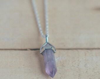 Bohostone necklace, Amethyst necklace, Aventurine necklace, boho pendant, natural stone pendant,