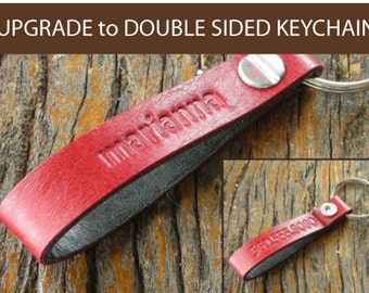 UPGRADE to Double Sided Keychain
