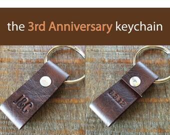 Custom Anniversary keychain