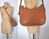 Coach Brown Satchel Bag Purse Leather / Hobo / 1980s
