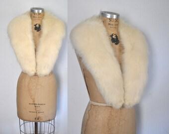 Large White Fox Fur Collar / bridal wedding