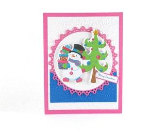 Christmas cards, Handmade Christmas cards, Holiday cards, Winter card, Seasonal card, Christmas cards handmade, Happy Holiday cards, Snowman