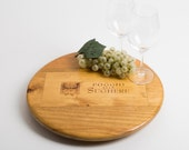 "Poggio alle Sughere Wine Crate featured on our 16"" Lazy Susan"
