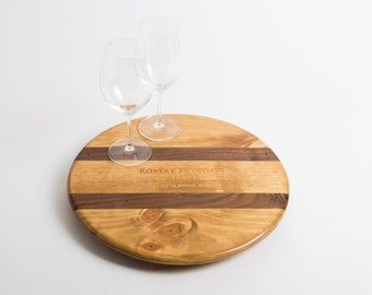 "Robert Mondavi Wine Crate and Inlay featured on our 16"" Lazy Susan"
