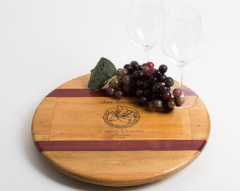"""San Giuseppe Italian Wine Crate with Wine Inlay featured on our 16"""" Lazy Susan"""