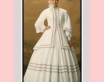 Civil War Belle - Ladies Gown-Jacket Ensemble-Costume Sewing Pattern-Inspired from Film Cold Mountain -Nicole Kidman -Uncut-Size 10-18-RARE
