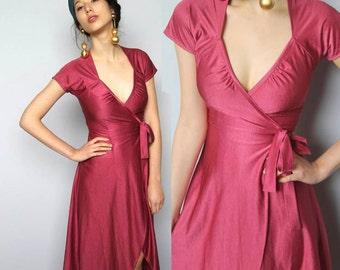 the hallowed jewel -- vintage 80's sexy wrap dress size XS/S