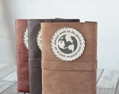 Large Leather Journal, Rustic Travel Diary, Sketchbook