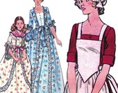 "Patriotic Formal Dress! Vintage c. 1976 Butterick Sewing Pattern 4260, ""Make it Real"" Misses' Dolly Madison Costume, Size 10, Uncut w/ FF"