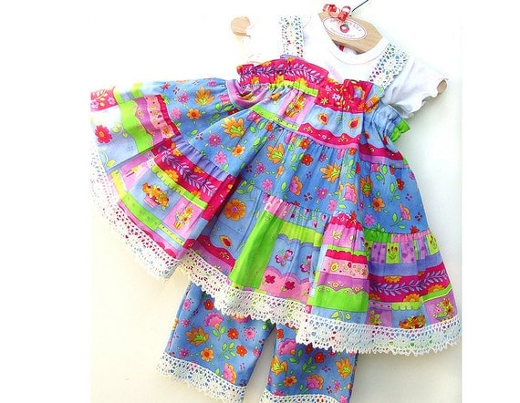 Festive Baby Girl Clothes Baby Girl First Birthday Outfit Colorful Cotton Baby Dress Size 3 6 9 12 or 18 months 1st Birthday Dress Pink Blue