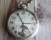 Antique Elgin Art Deco Pocket Watch with Chain 1926 by avintageobsession on etsy..20% Discount
