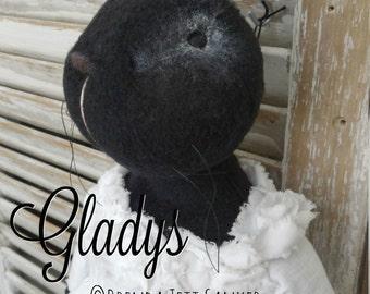 HANDMADE OOAK bunny rabbit doll - Gladys