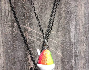 Snoball necklace New Orleans rainbow