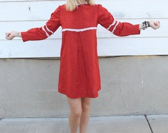 Sweet 60's Swiss Dot Mini Angel Dress XS