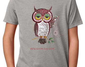 boys shirts - boys tshirts - owl shirt - owl tshirt - boys clothing - childrens clothes - owl gifts - YOURE GETTING Very SLEEPY - t shirt