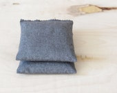 Charcoal Grey Lavender Pillow, Sweet Dreams Sleep Sachet, Anniversary Gift Men Women