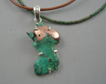 Copper and Turquoise  (Splash Copper) Necklace