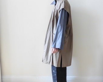 80s 2 Tone Cotton Duster Jacket