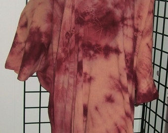 Plumlicious Caftan, Kaftan Dress, Hand Dyed, Hi Lo  with pockets Plus, One Size
