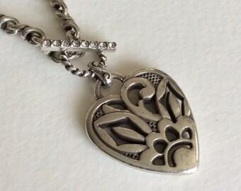 Brighton heart flower necklace