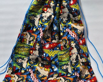 Wonder Woman Drawstring Backpack
