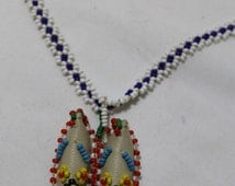 Vintage Seed Bead Moccasin 20 Inch Necklace