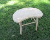 Vintage Stool Kidney Shaped Bench
