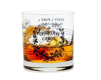 A Christmas Carol - Literature Rocks Glass