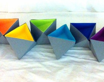 Triangular BOXes 3d papercraft. You get a PDF digital file with templates and instructions for this DIY (do it yourself) model.