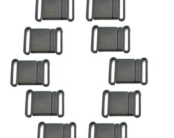 "10 pcs  Breakaway Clasp 3/4"", Lanyard Hardware, Safety Buckle, 20 mm Breakaway Clip  Black Plastic Clasp"