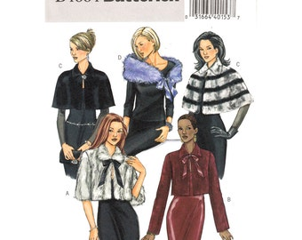 Womens Jacket Capelet & Wrap Pattern Butterick 4664 Evening Jacket Cape Wedding Wrap Womens Sewing Pattern Size 4 to 14 UNCUT