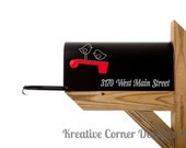 Mailbox Address with Birds / Birds / Street Address / DIY / Mailbox / Home / Vinyl Decals / Wall Stickers / Vinyl Lettering / Vinyl Decor