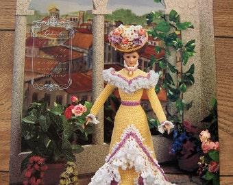 1995 Crochet pattern Fashion Doll September GARDEN PARTY FROCK
