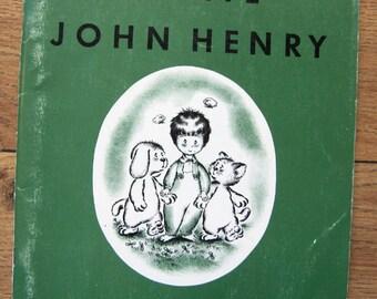 vintage 50s childrens book BRAVE JOHN HENRY picture book sc