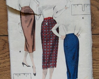Vintage 40s 50s Butterick pattern 7867 Misses SKIRTS hip 37 waist 27