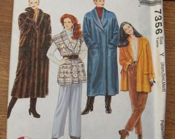 vintage 1994 McCalls pattern 7356 misses Coat Jacket Vest uncut sz XS-S-M