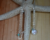 Fresh Water Coin Pearl Necklace- Silver plated- ready for any special occasion, wedding, anniversary,bridesmaid, or just because