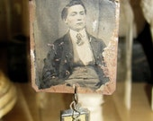 RESERVED FOR JULIE----Remember Me - Tintype Necklace