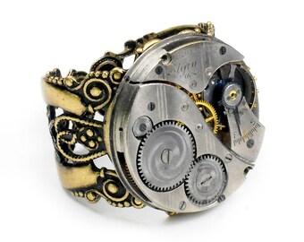 Petit Gerard - 1919 Elgin Watch Steampunk Ring