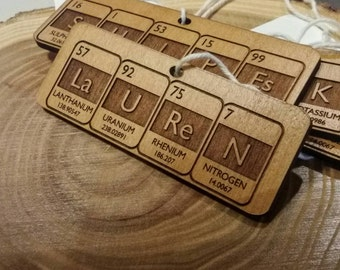 Periodic Table Create Your Own Ornament