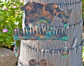 Goat Garden Stake / Metal Garden Art / Yard Art /  Farm Animal / Copper Art / Outdoor / Barnyard / Sculpture / Plant Stake