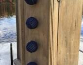 Nautical Decor - 4 nautical drawer pulls - navy blue rope drawer pulls