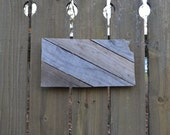 Kansas Cutout Reclaimed Wood MADE TO ORDER