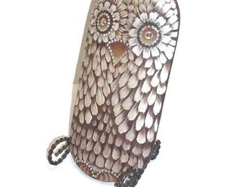 Hand Painted Hootie Owl With Bling