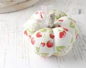 Pumpkin Pincushion Red and White Pumpkin Pin Keep Summer Strawberries