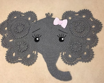 Crochet Elephant Rug- Girl