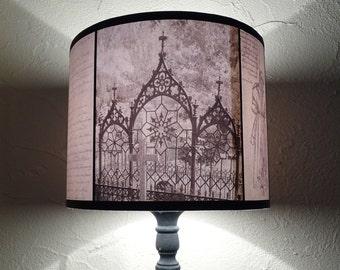 Twin peaks inspired lamp shade lampshade lighting woodland gothic decor lamp shade lampshade requiescat in pace lighting gothic home decor goth aloadofball Images